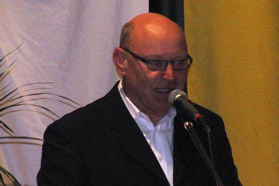 Hans-Peter Storz beim Bürgertreff 2011