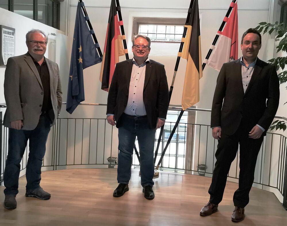 Mirko Witkowski zu Besuch im Dunninger Rathaus